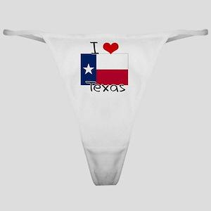 I HEART TEXAS FLAG Classic Thong