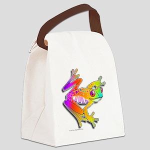 Pop Art FROG Canvas Lunch Bag