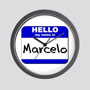 hello my name is marcelo  Wall Clock