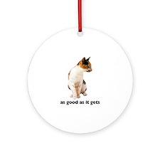 Calico Cat Photo Ornament (Round)