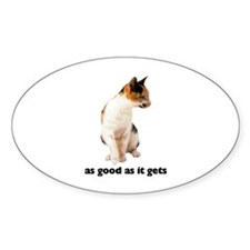 Calico Cat Photo Oval Sticker