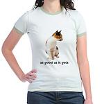 Calico Cat Photo Jr. Ringer T-Shirt
