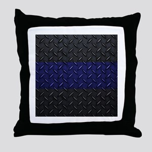 Police Diamond Plate Throw Pillow