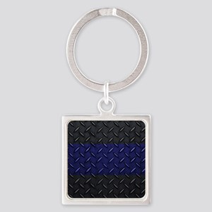 Police Diamond Plate Keychains