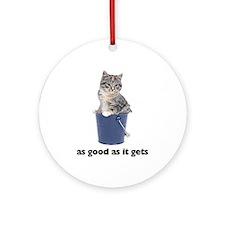 Tabby Cat Photo Ornament (Round)