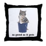 Tabby Cat Photo Throw Pillow