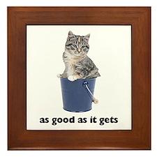 Tabby Cat Photo Framed Tile