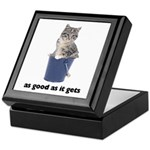 Tabby Cat Photo Keepsake Box