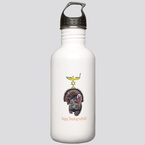 Happy Thanksgivukkah Turkey and Menorah Water Bott