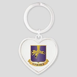 DUI - 2nd Bn - 502nd Infantry Regiment Heart Keych