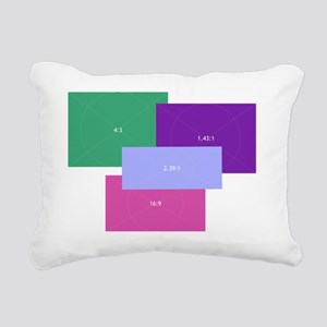 Aspect Ratio Color Block Rectangular Canvas Pillow