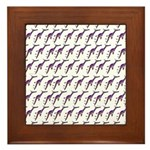 Weedy Sea Dragon Sea Horse pattern Framed Tile