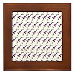 Weedy Sea Dragon Sea Horse pattern Framed Tile