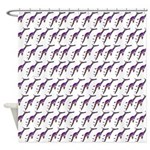 Weedy Sea Dragon Sea Horse pattern Shower Curtain