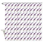 Weedy Sea Dragon Sea Horse pattern Shower Curtain