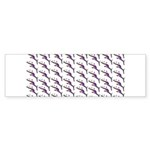 Weedy Sea Dragon Sea Horse pattern Bumper Sticker