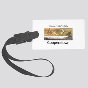 Cooperstown Americasbesthistory. Large Luggage Tag