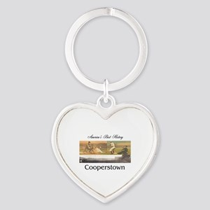 Cooperstown Americasbesthistory.com Heart Keychain