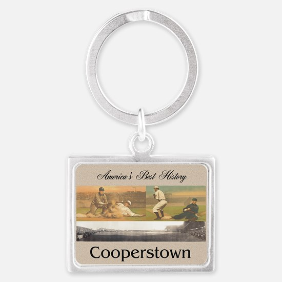 Cooperstown Americasbesthistory Landscape Keychain