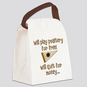 funny bowed psaltery Canvas Lunch Bag