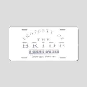 Property of the Bride (Silv Aluminum License Plate