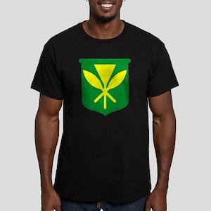Kanaka Maoli Men's Fitted T-Shirt (dark)
