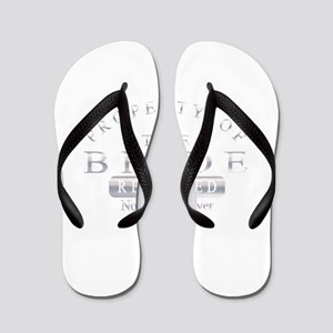 Property of the Bride (Silver) Flip Flops