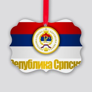 Srpska Flag Picture Ornament