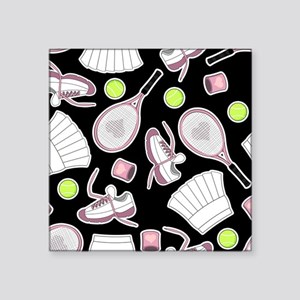 Tennis Love Pattern Black Sticker
