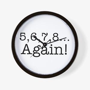 5,6,7,8 Again! Wall Clock