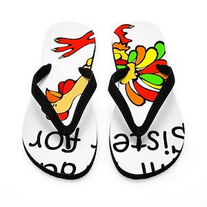 e87c4437c Chicken Flip Flops - CafePress