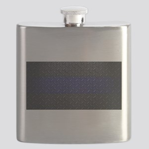 Police Diamond Plate Flask