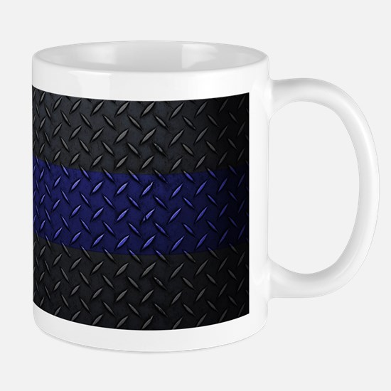 Police Diamond Plate Mugs