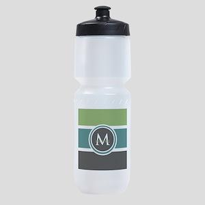 Elegant Modern Monogram Sports Bottle