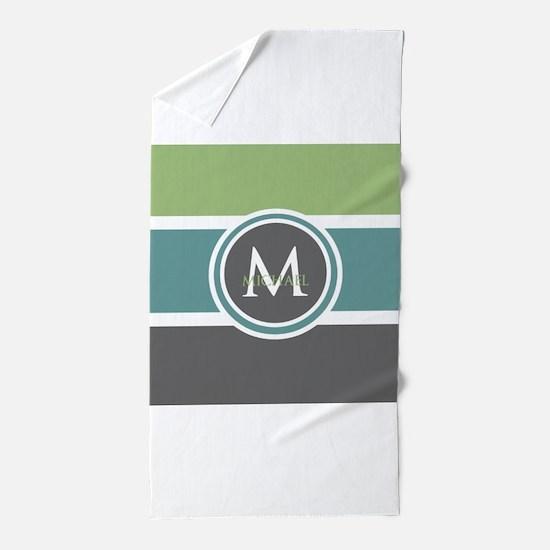 Elegant Modern Monogram Beach Towel