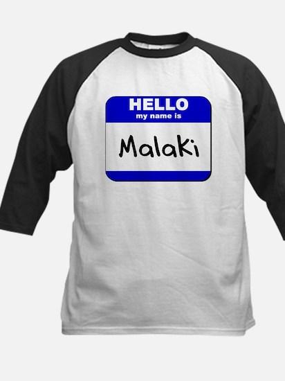 hello my name is malaki Kids Baseball Jersey