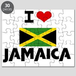 I HEART JAMAICA FLAG Puzzle