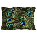 Art Deco Peacock Feathers Pillow Case