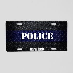 Police Diamond Plate Aluminum License Plate