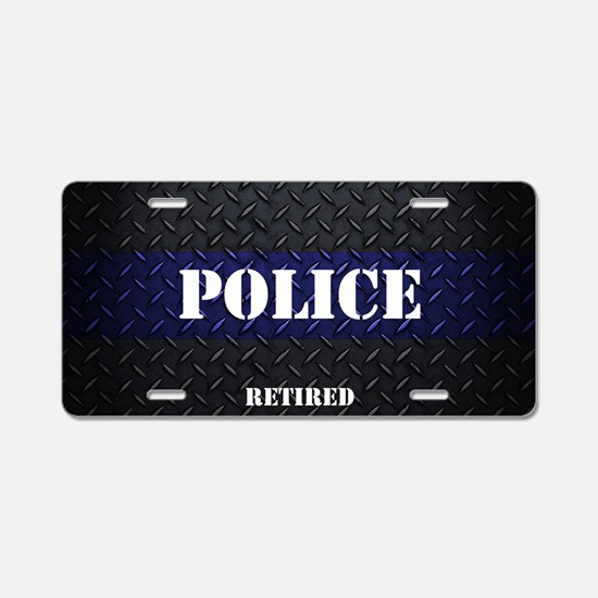 Police Diamond Plate Aluminum License Plate
