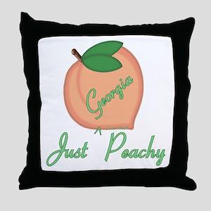 Georgia Peachy Throw Pillow