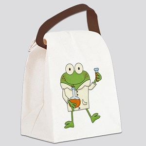 Frog Scientist Canvas Lunch Bag