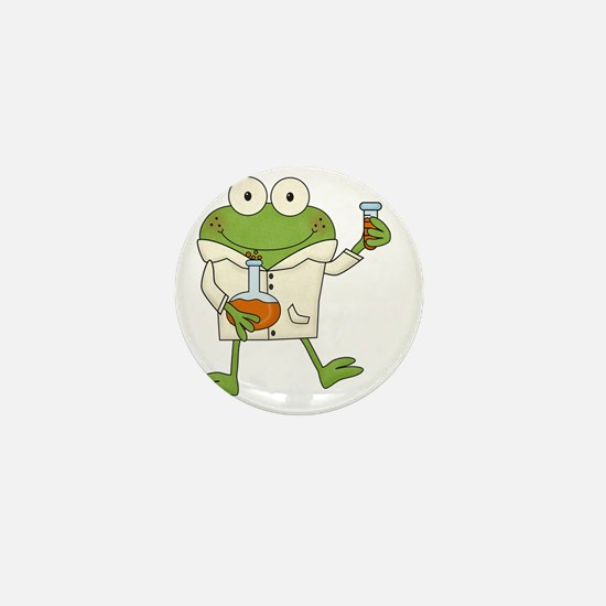 Frog Scientist Mini Button