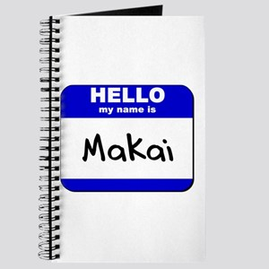hello my name is makai Journal