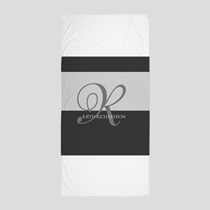 Elegant Custom Monogram Beach Towel