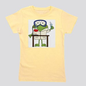 Frog in Science Lab Girl's Tee