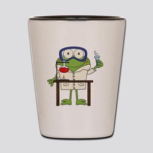 Frog in Science Lab Shot Glass