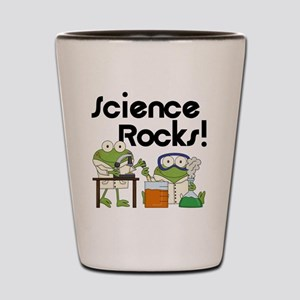 Frogs Science Rocks Shot Glass
