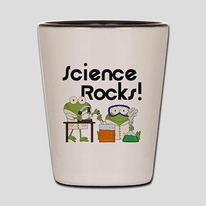 Frogs Science Rocks Shot Glass