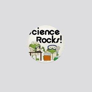 Frogs Science Rocks Mini Button